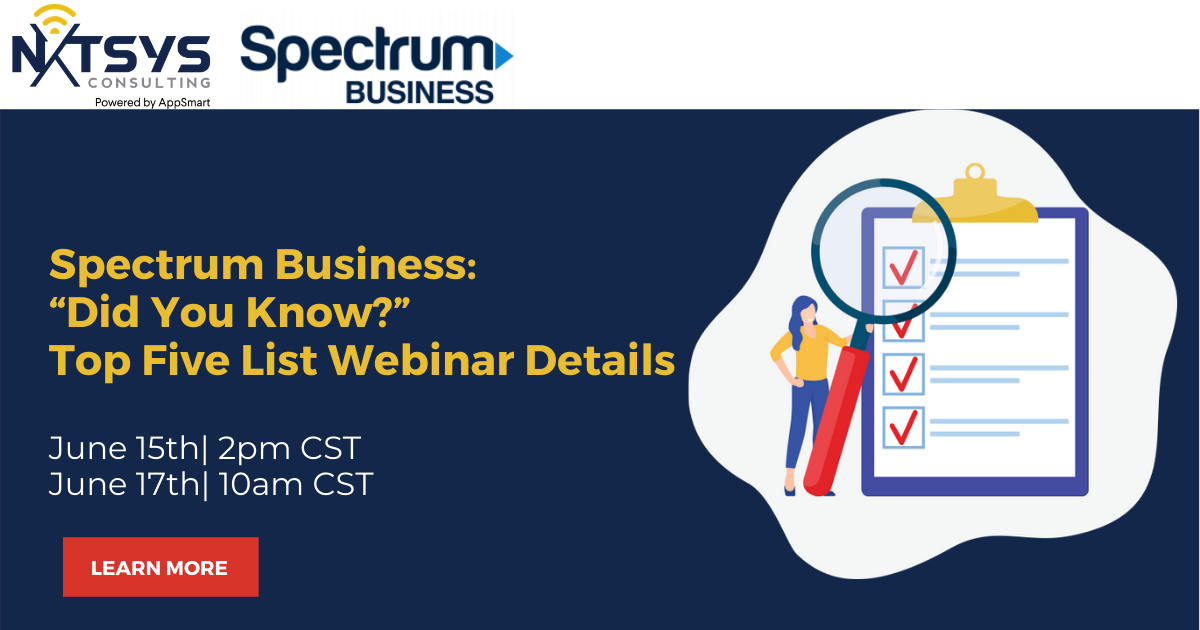 "Spectrum Business: ""Did You Know?"" Top Five List Webinar Details"